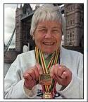 One time world champion, oldest marathoner Jenny Wood-Allen of Dundee, Scotland   Photo: BBC